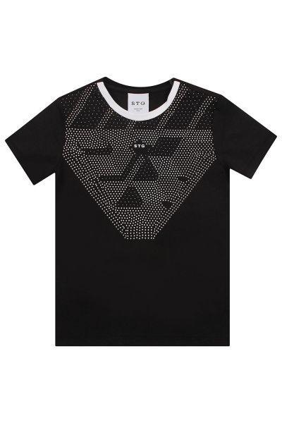 футболка street gang для мальчика, черная