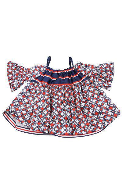 Купить Блуза, Manila Grace, Разноцветный, Хлопок-98%, Эластан-2%, Женский