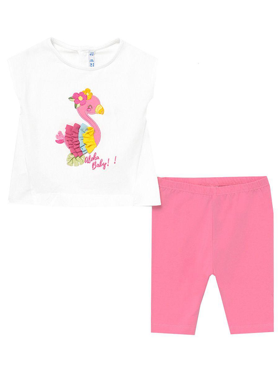 футболка mayoral для девочки, разноцветная