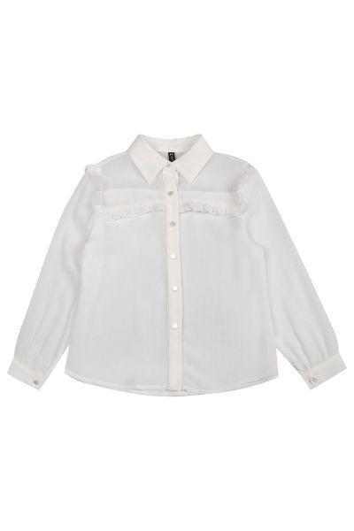 Блуза, Manila Grace, Белый, Хлопок-98%, Эластан-2%, Женский  - купить со скидкой