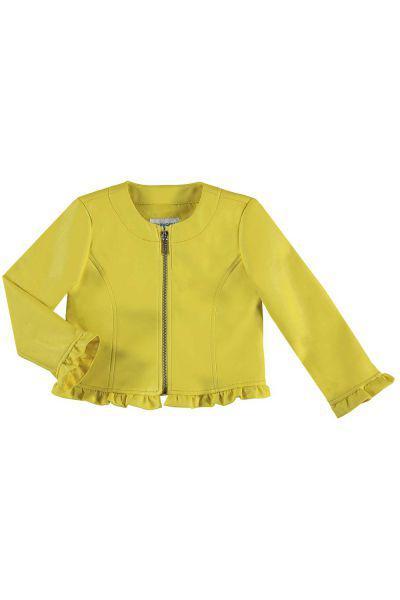 Купить Куртка, Mayoral, Желтый, Полиуретан-80%, Полиэстер-20%, Женский