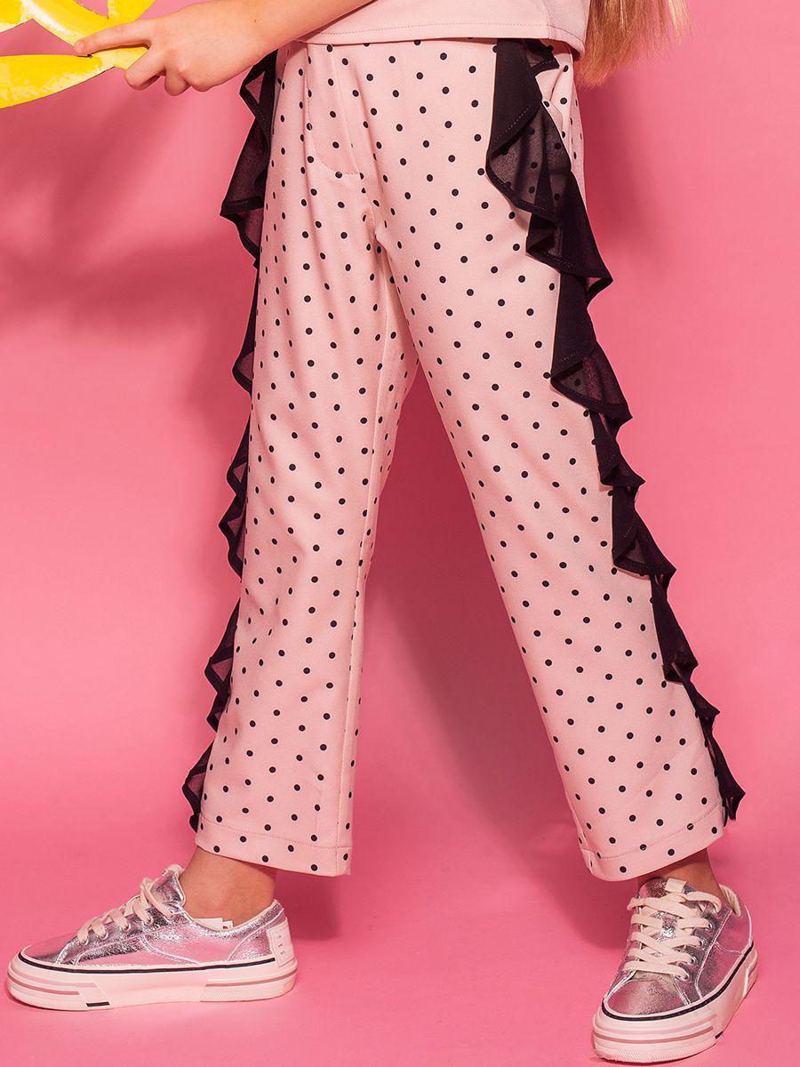 брюки y-clu' для девочки, розовые