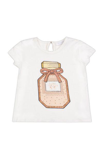 футболка byblos для девочки, белая