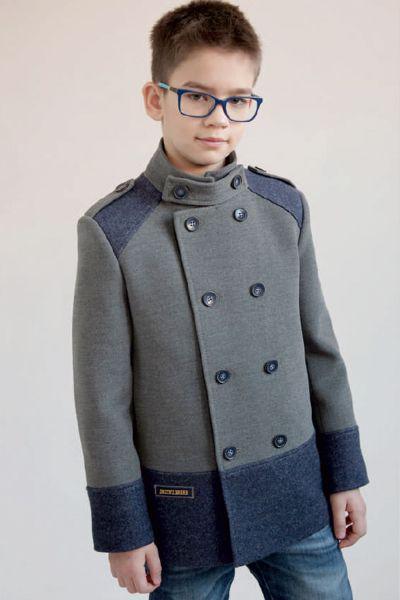 Купить Пальто, Mamma Mila, Серый, Полиэстер-65%, Вискоза-35%, Мужской