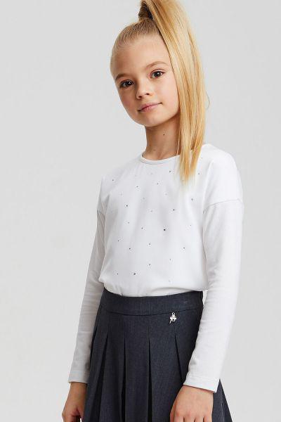 Купить Блуза, Silver Spoon, Белый, Хлопок-90%, Эластан-10%, Женский
