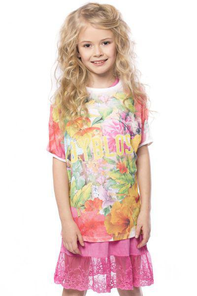 Футболка+платье комплект для девочки BJ5524 разноцветный Byblos, Китай (КНР)