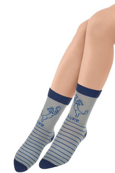 Носки для девочки SNK-1496 серый Charmante, Китай (КНР)