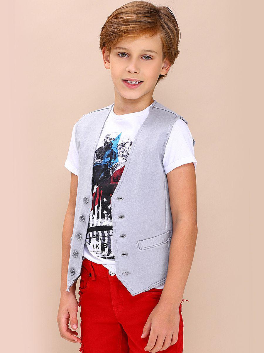 жилет gaudi для мальчика, серый