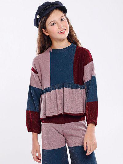 джемпер y-clu' для девочки, разноцветный