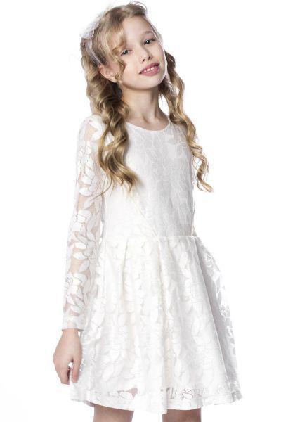 Купить Платье, Beba Kids, Белый, Хлопок-100%, Женский