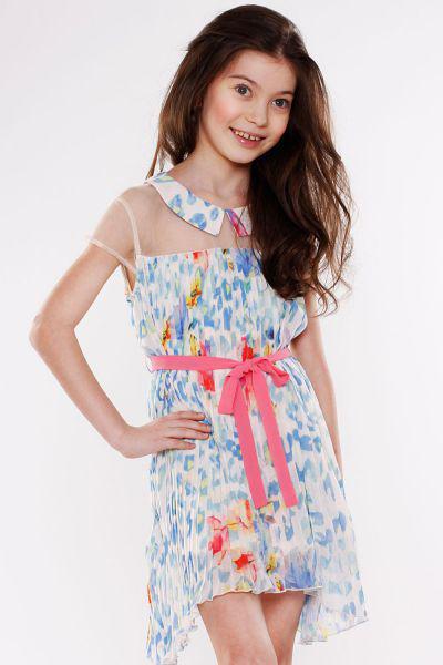 Платье для девочки TF13029 бежевый To Be Too, Китай (КНР)