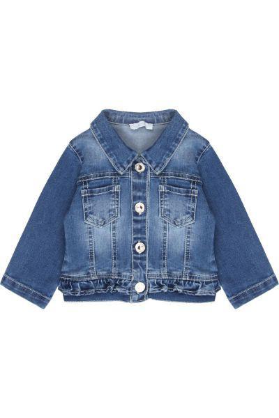 Купить Куртка, Meilisa Bai, Голубой, Хлопок-69%, Полиэстер-21%, Вискоза-9%, Эластан-1%, Женский