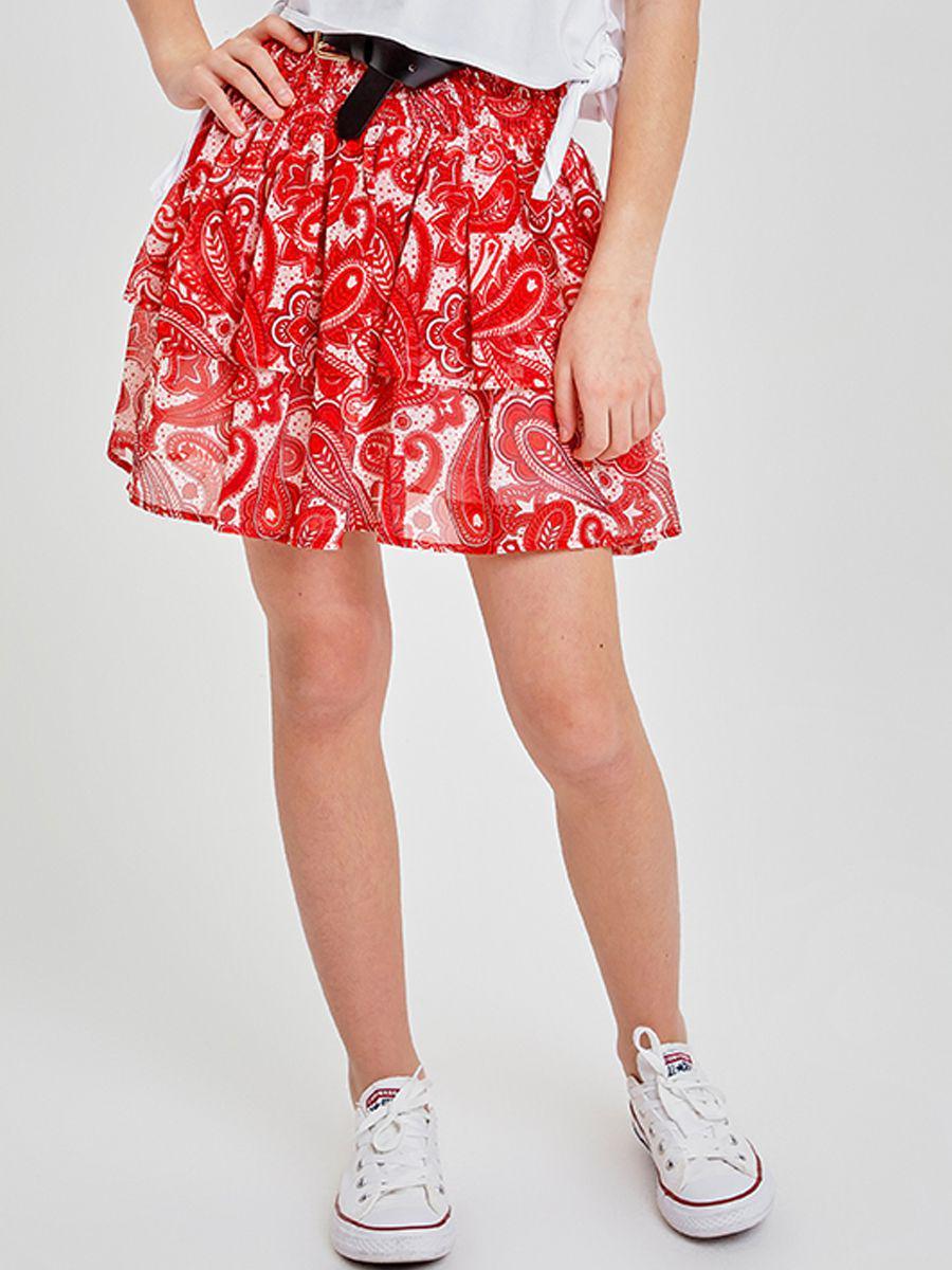 юбка to be too для девочки, красная
