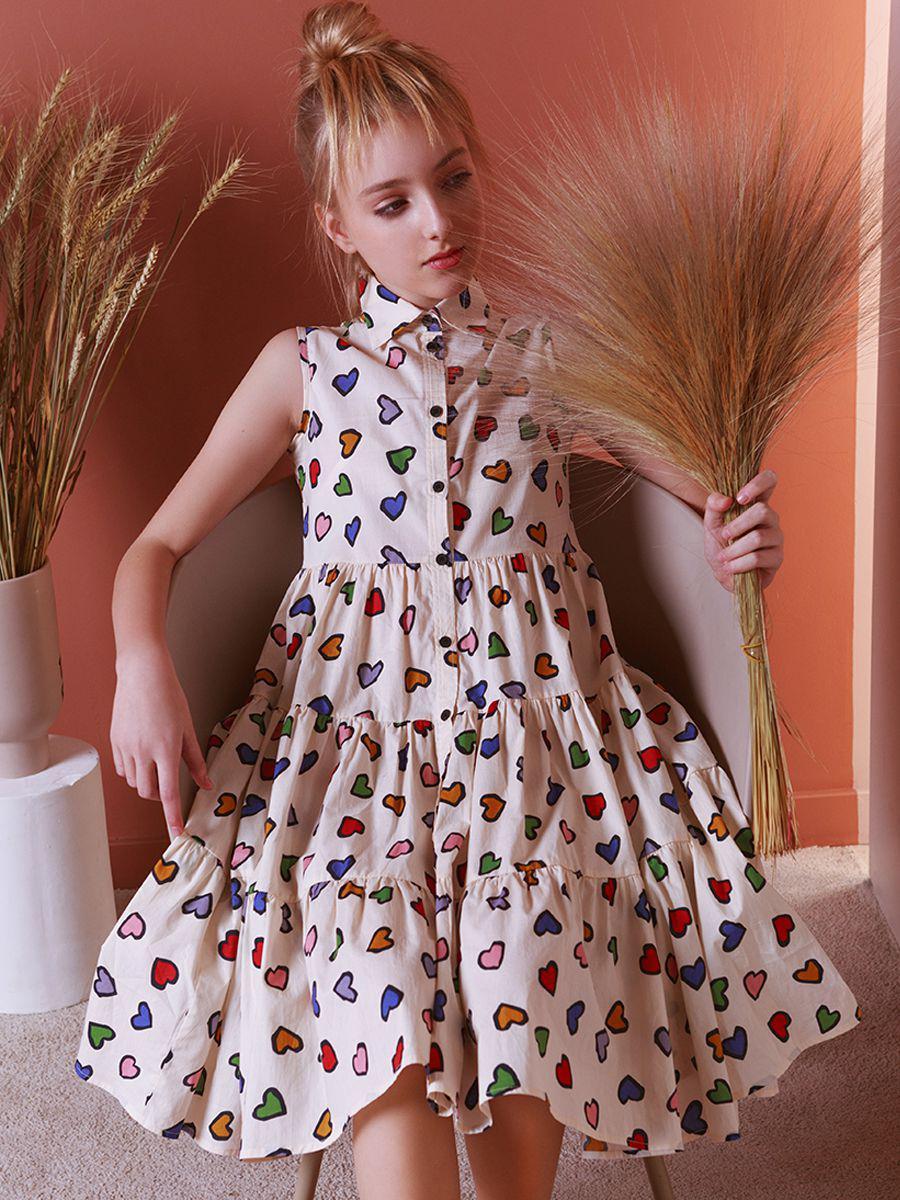 платье-рубашки noble people для девочки, бежевое