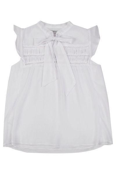Купить Блуза, To Be Too, Белый, Полиэстер-95%, Эластан-5%, Женский