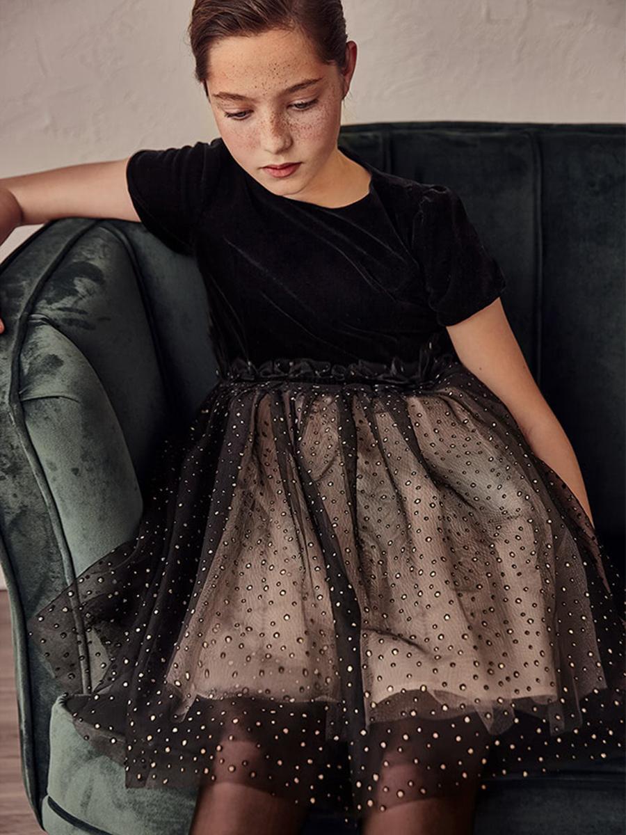 платье mayoral для девочки, черное