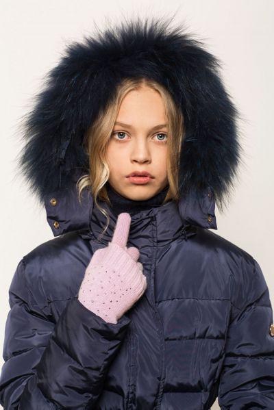 Купить Перчатки, Noble People, Фиолетовый, Шерсть-40%, Вискоза-30%, Полиамид-20%, Кашемир-10%, Женский