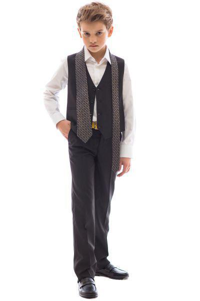 Купить Жилет+брюки, Noble People, Черный, Вискоза-50%, Полиэстер-50%, Мужской
