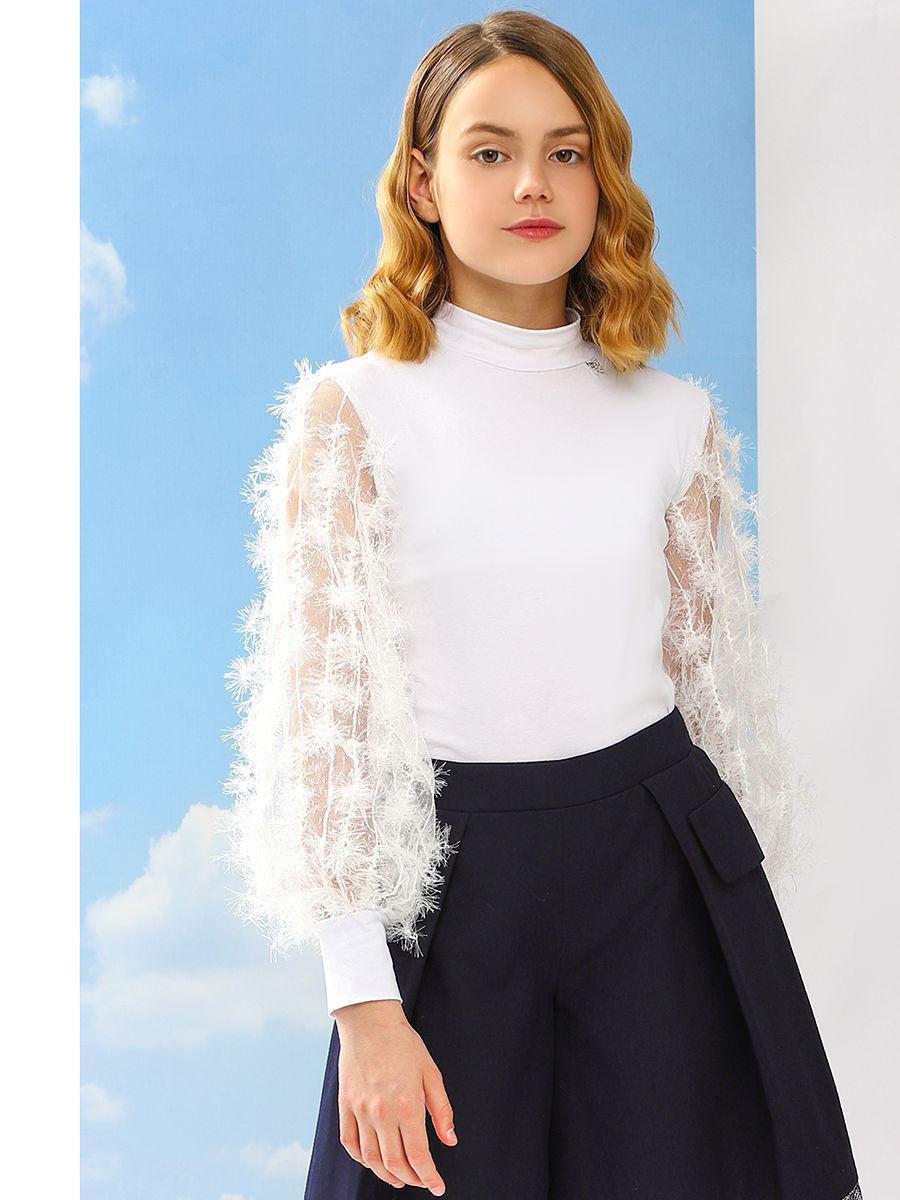 Купить Блуза, Noble People, Белый, Хлопок-92%, Эластан-8%, Женский