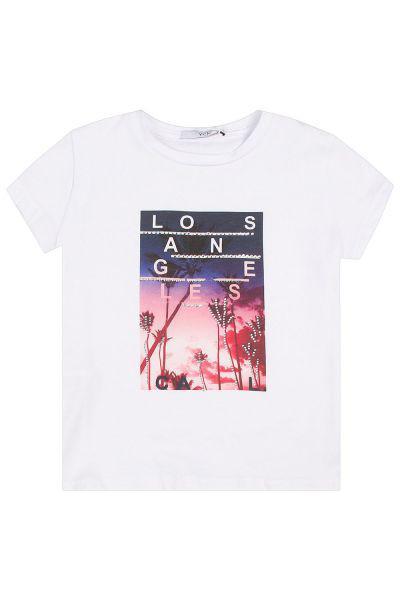 футболка y-clu' для девочки, белая