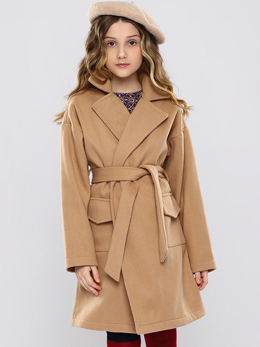 пальто y-clu' для девочки, бежевое