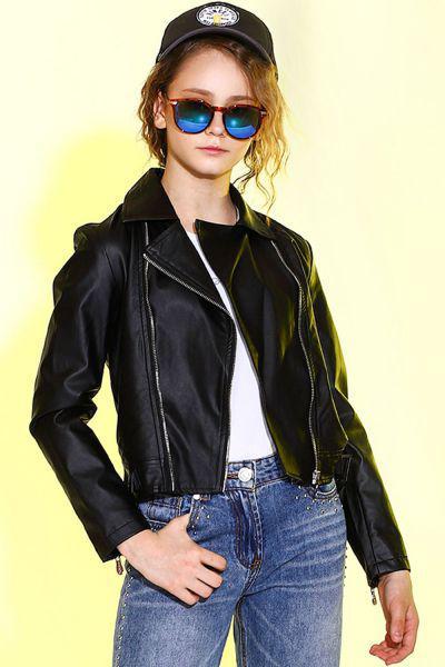 Купить Куртка-косуха, Manila Grace, Черный, Полиуретан-100%, Женский