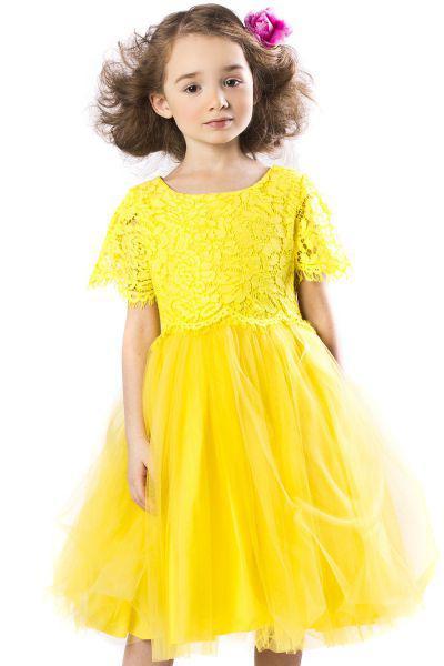 Купить Платье, Noble People, Желтый, Нейлон-100%, Женский