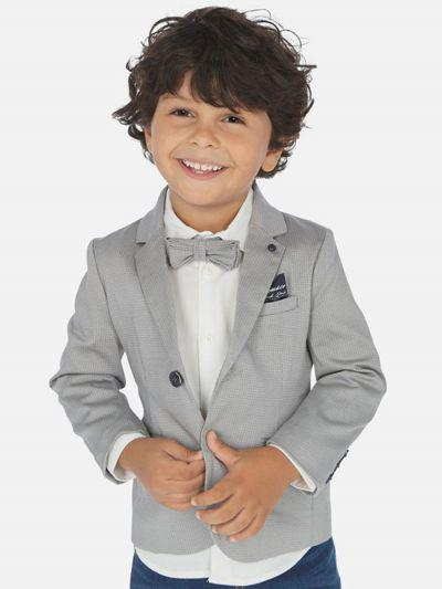 пиджак mayoral для мальчика, серый