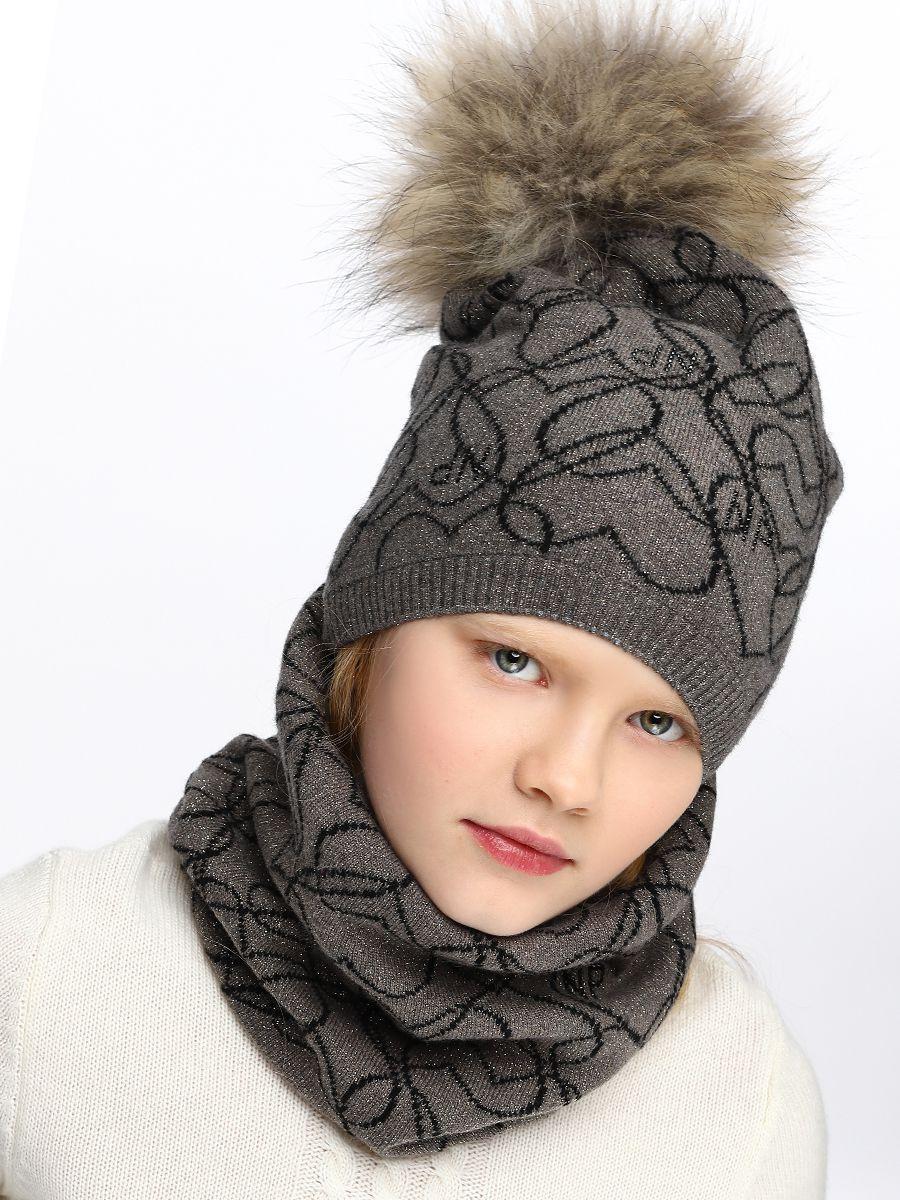 шапка noble people для девочки, коричневая