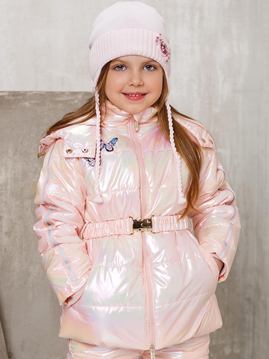 куртка noble people для девочки, розовая