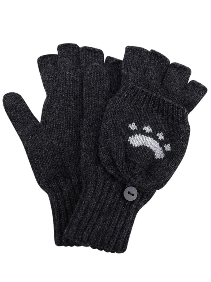 перчатки noble people для мальчика, серые