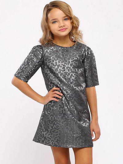 платье silver spoon для девочки, серое
