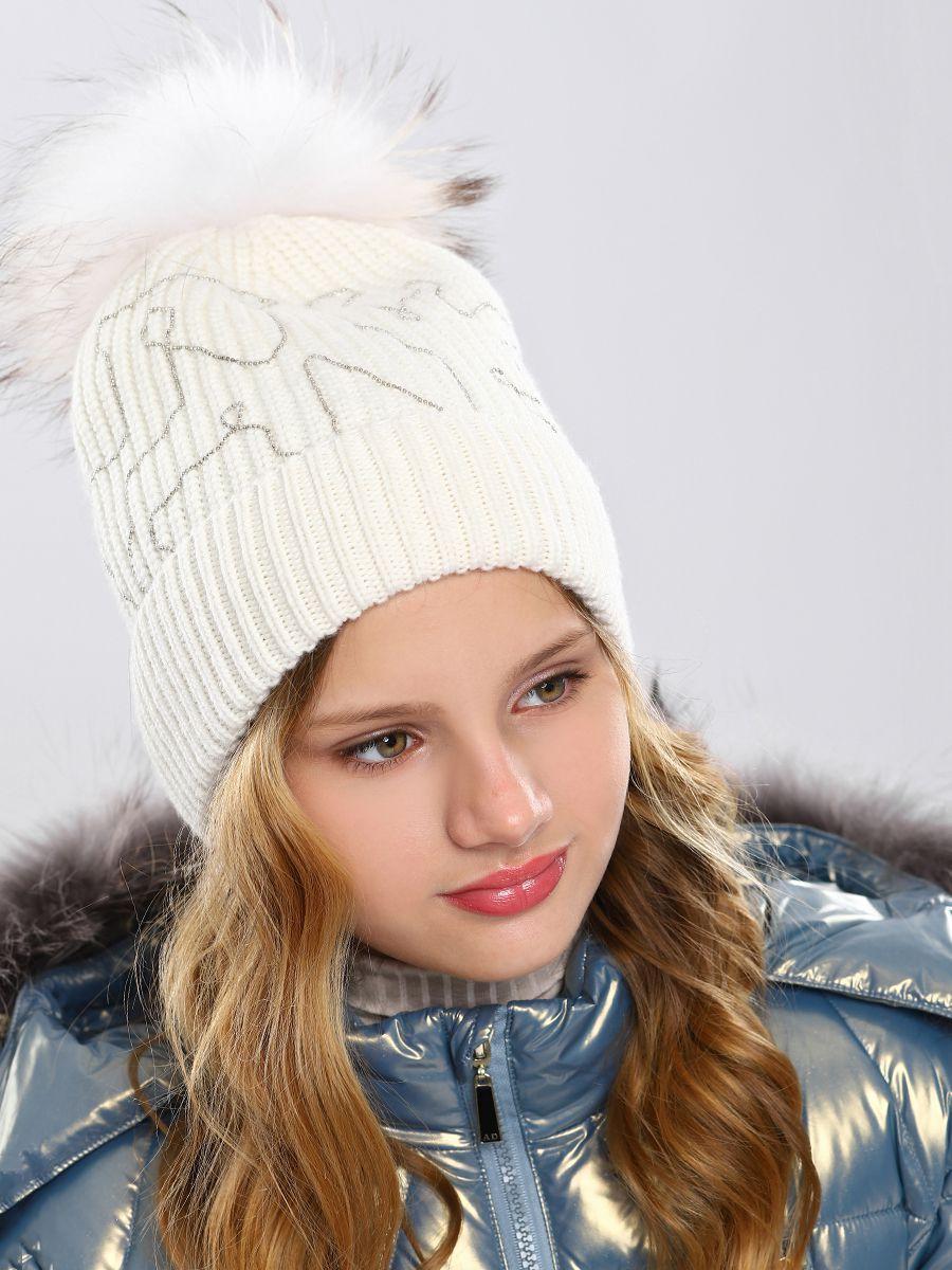 шапка noble people для девочки, белая