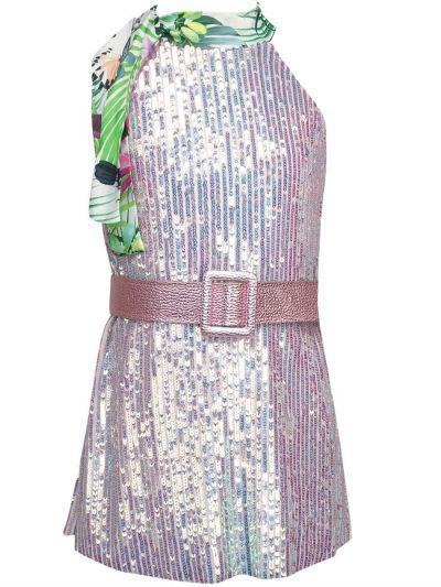 Купить Платье, Y-clu', Розовый, Хлопок-93%, Эластан-7%, Женский