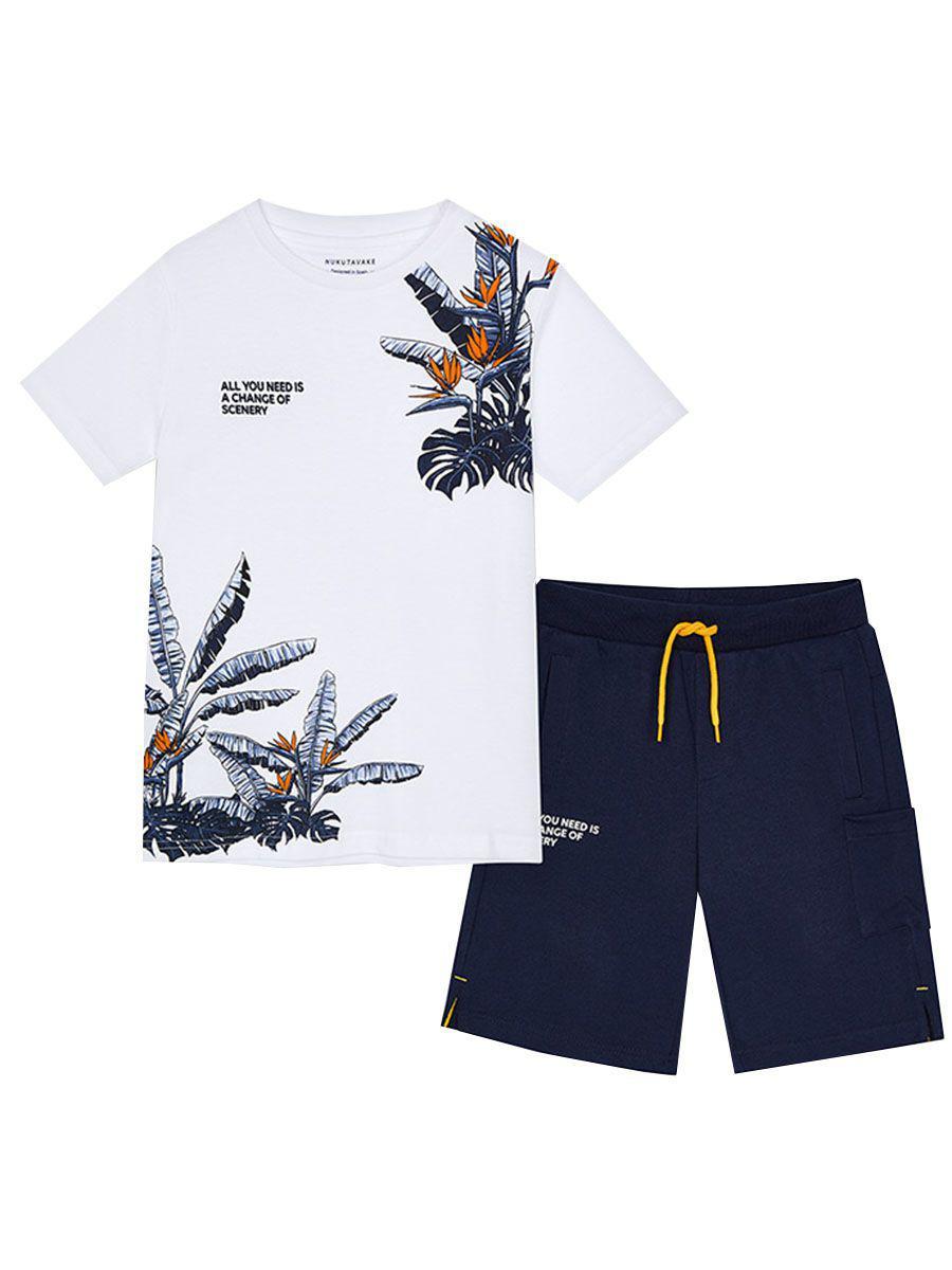 футболка mayoral для мальчика, разноцветная
