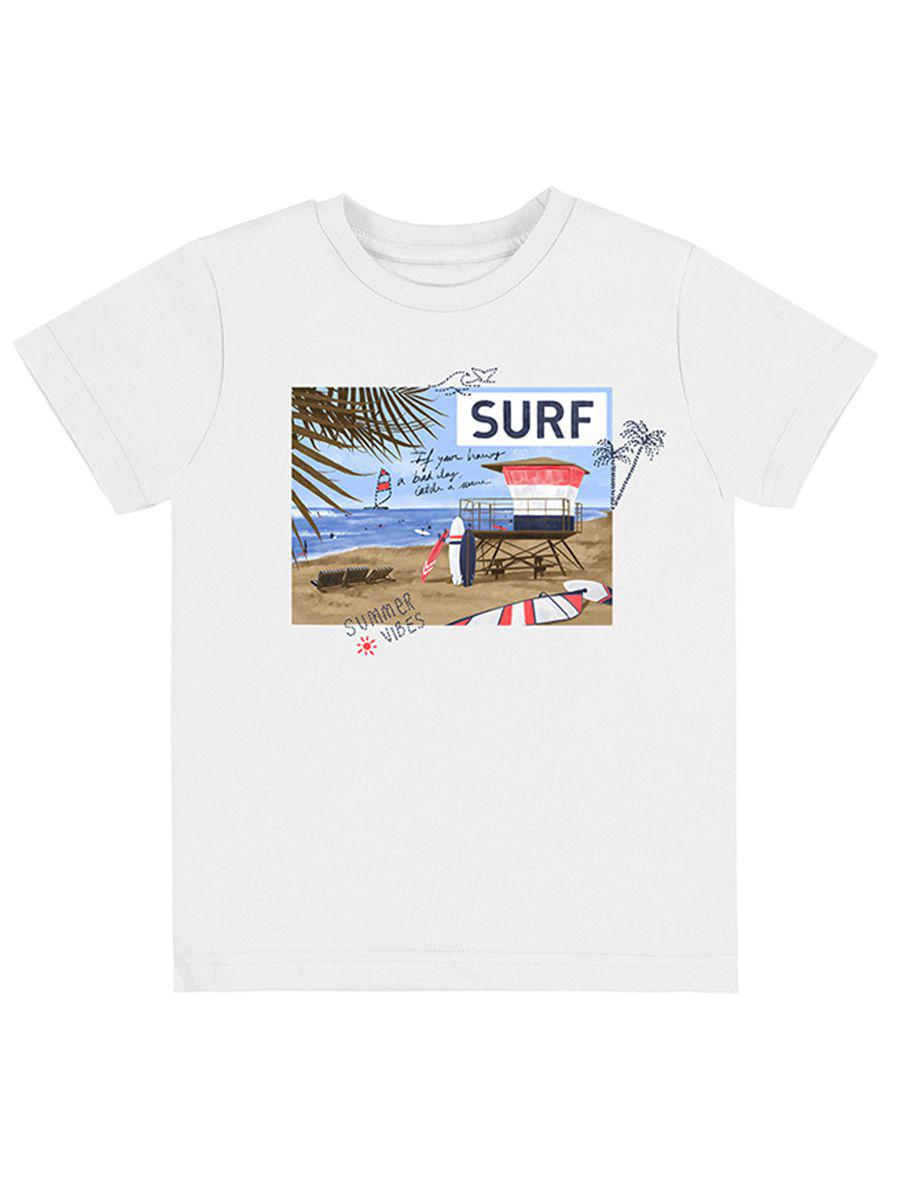 футболка mayoral для мальчика, белая