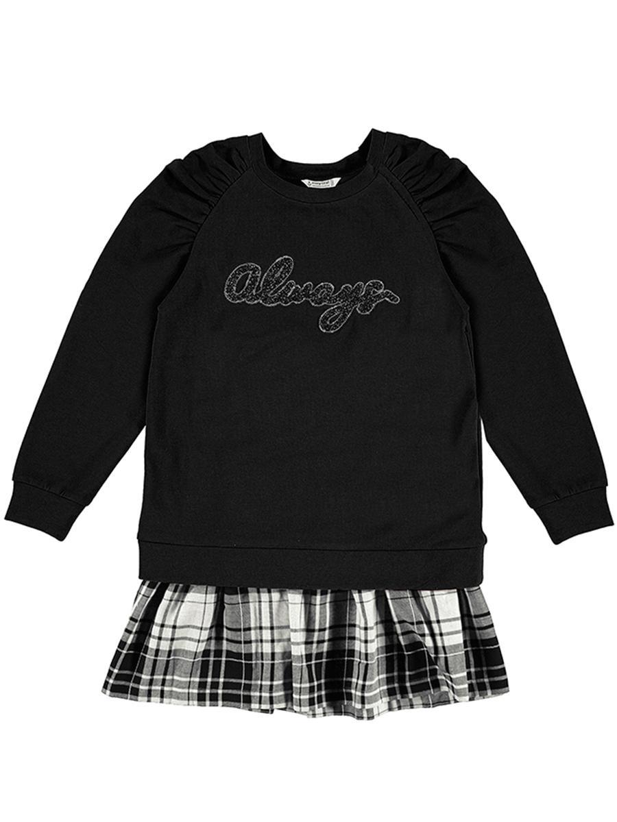 пуловер mayoral для девочки, черный