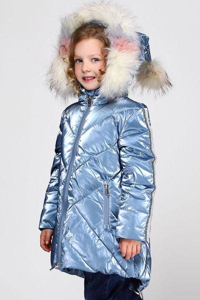 Купить Пальто, Noble People, Голубой, Нейлон-100%, Женский