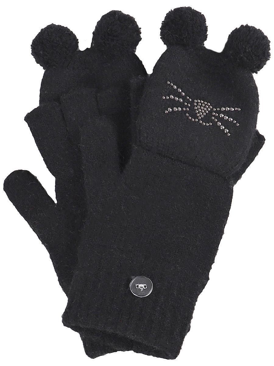 перчатки noble people для девочки, черные