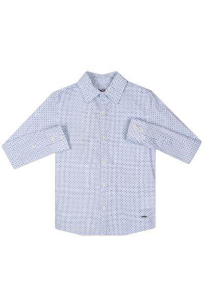 Рубашка, Gaudi, Голубой, Хлопок-97%, Эластан-3%, Мужской  - купить со скидкой