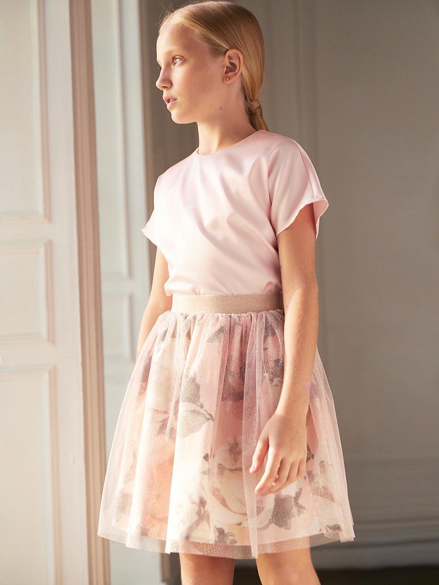 юбка silver spoon для девочки, розовая