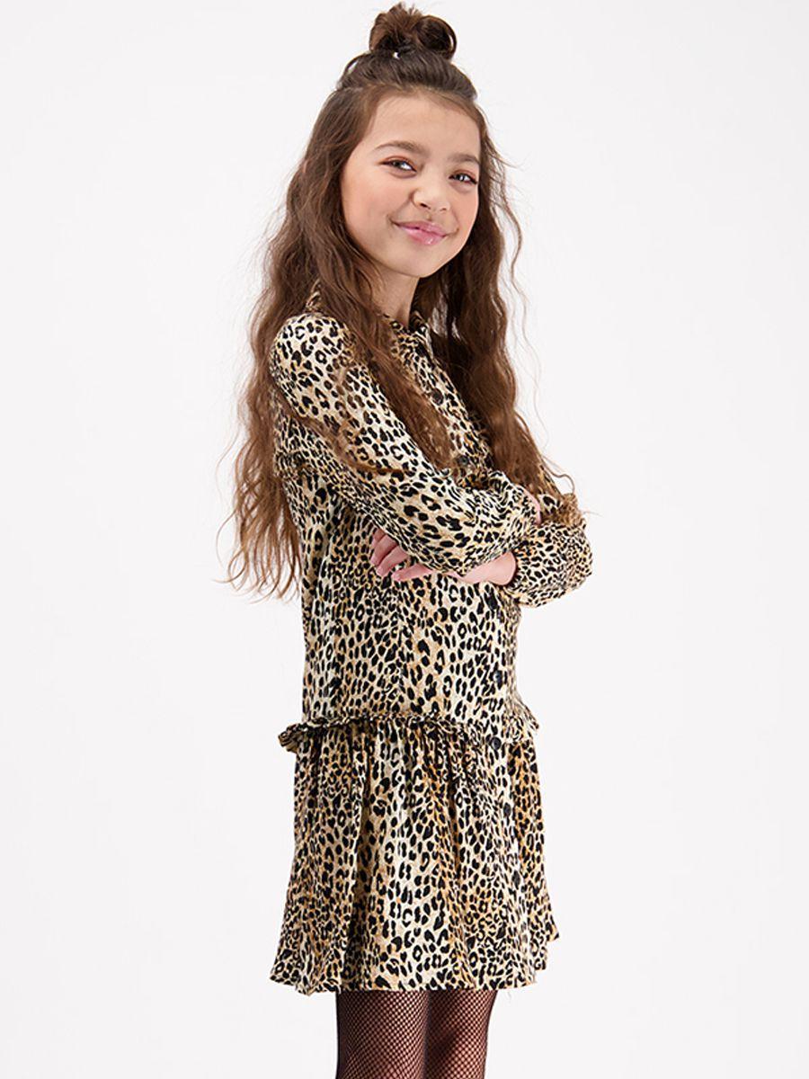 платье vingino для девочки, коричневое