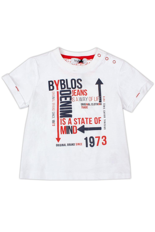 Купить Футболка, Byblos, Белый, Хлопок-100%, Мужской