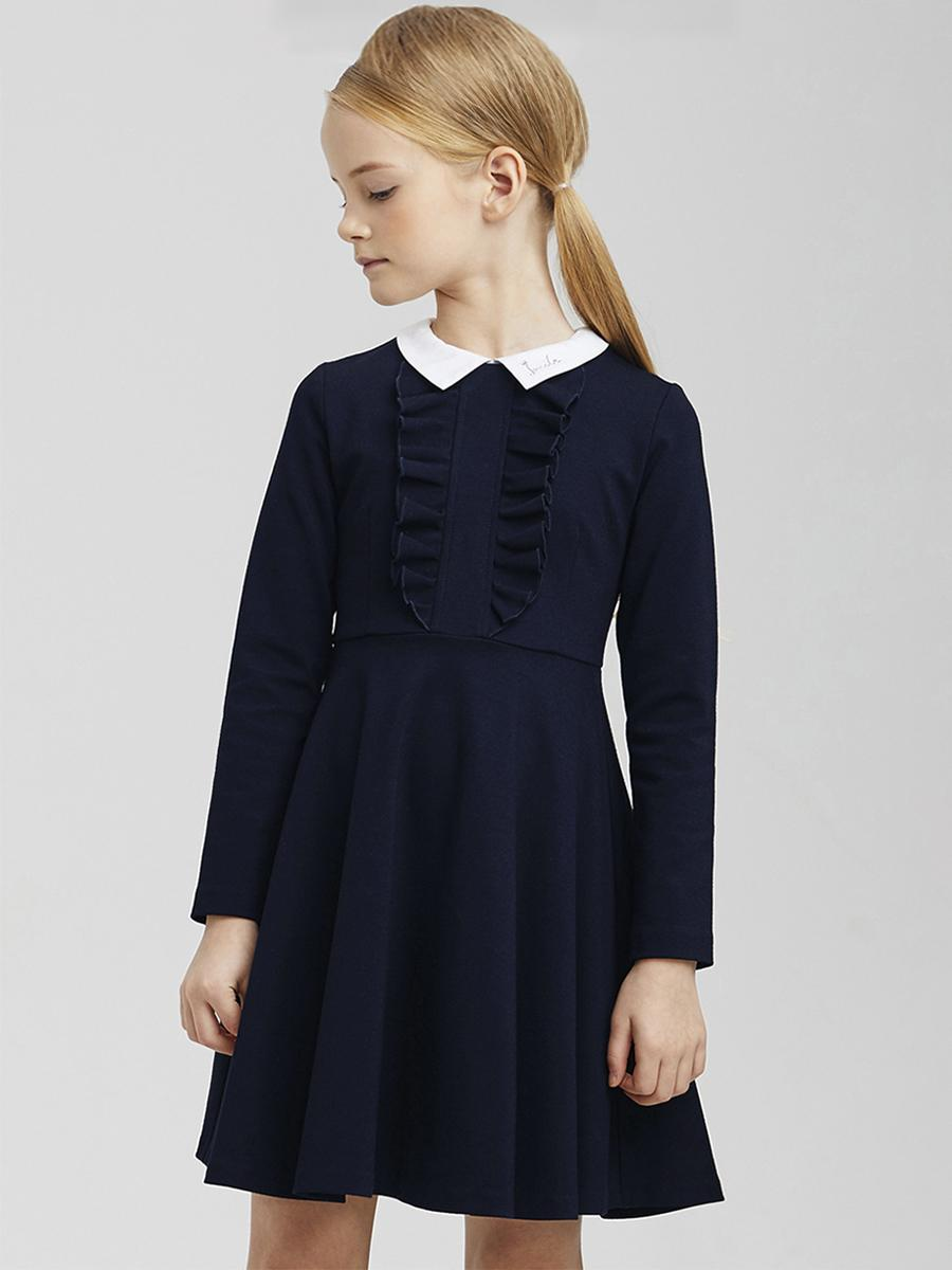 платье silver spoon для девочки, синее