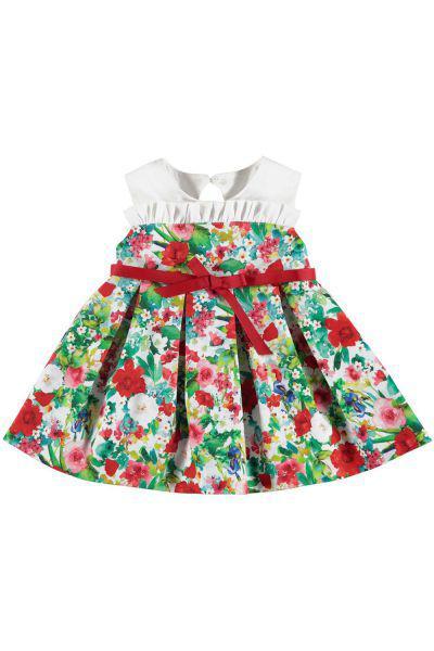 Платье, Mayoral, Разноцветный, Хлопок-98%, Эластан-2%, Женский  - купить со скидкой