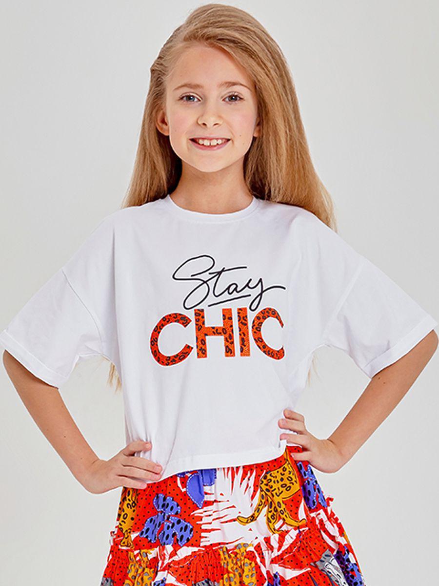 футболка to be too для девочки, белая