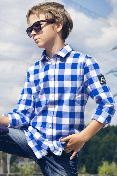 Купить Рубашка, Street Gang, Голубой, Хлопок-100%, Мужской