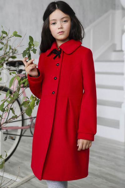 Купить Пальто, Mamma Mila, Красный, Шерсть-95%, Альпака-5%, Женский