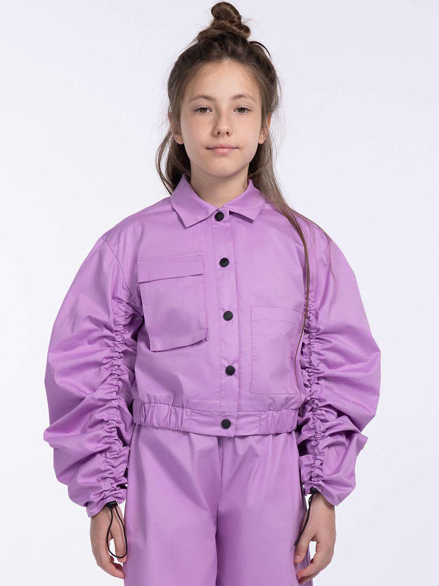 жакет смена для девочки, фиолетовый