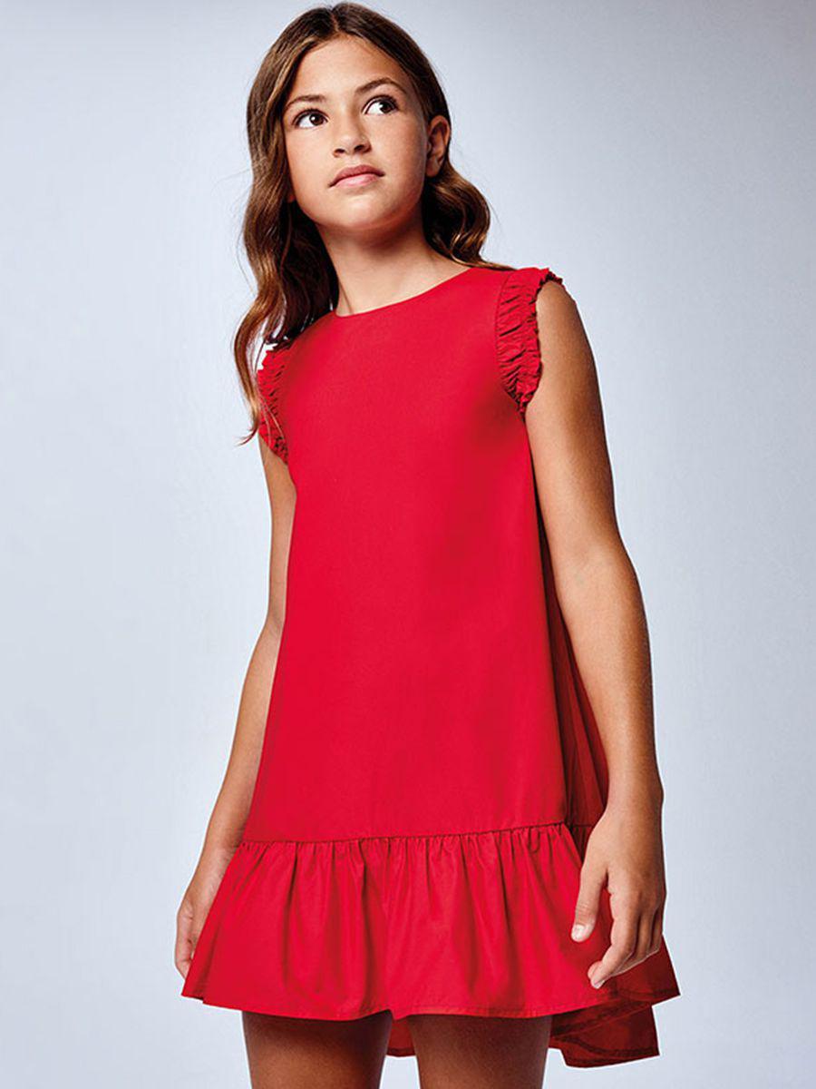 платье mayoral для девочки, красное